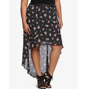 Torrid Hi Low Floral Skirt